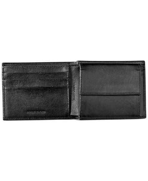 Dompet Fossil Ellis Coin Black Original perry ellis coin bifold wallet in black for lyst