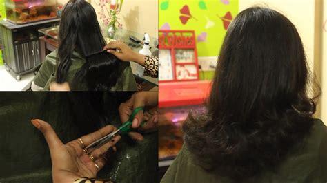 cut hair at home curve shape u cut hair style hair cut tutorial how to cut your