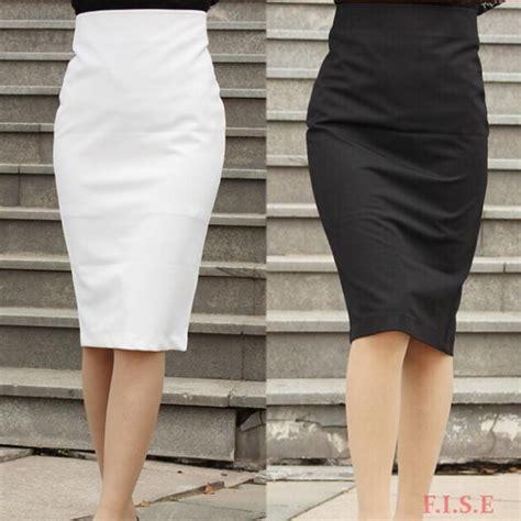 business suit office skirt black knee length vintage
