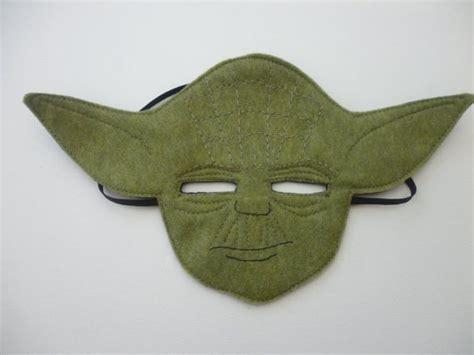 star wars felt yoda mask  dressing  mummyhughesy
