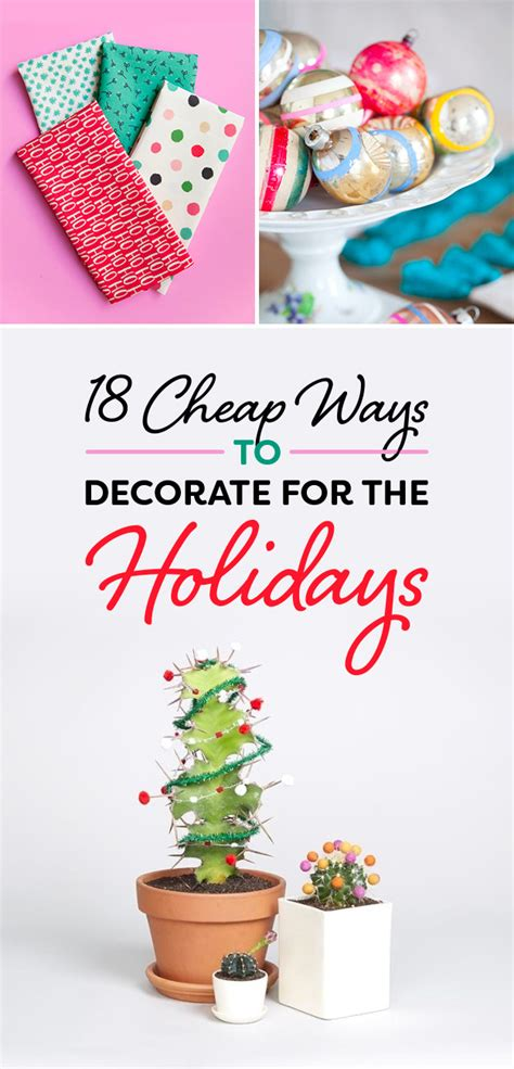 18 cheap ways to decorate for the holidays the most