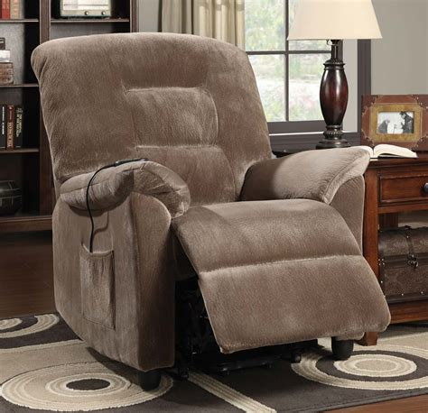 Coaster Power Lift Recliner by Coaster 601025 Power Lift Recliner Brown 601025 At