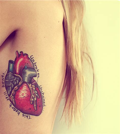 realistic heart tattoo real www imgkid the image kid has it