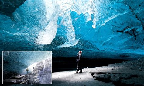 Travel Jumbo Frozen Trj inside the amazing caves waves appear to be frozen in time but are actually