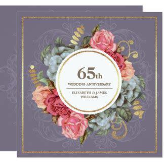 65th wedding anniversary invitations anniversary invitations announcements zazzle ca