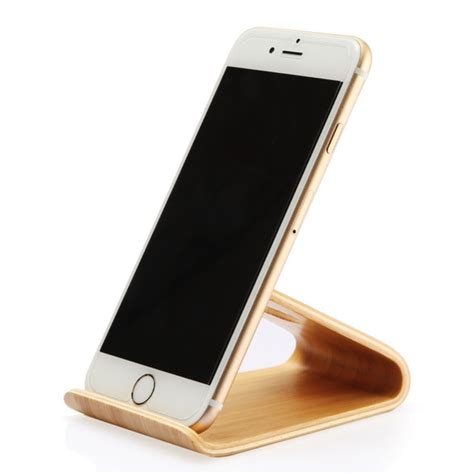 Wood Mobile Holder wooden mobile phone holder stand for iphone 6 6s plus 5 5s se cell phone wood desk phone stand