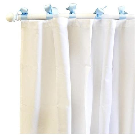 White Curtains With Blue Trim Curtain Panels White Pique With Blue Trim And Boutique