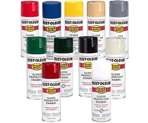 rust oleum protective enamel spray paint based stops rust 12 oz cans ebay