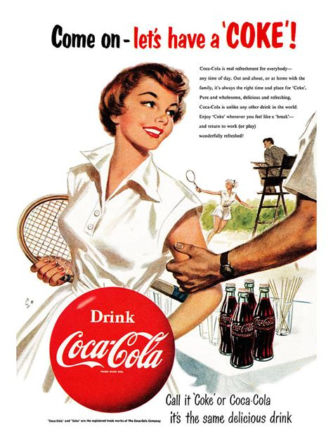 Coca Cola Duvet Cover Come Let S Have A Coke Digital Art By Georgia Fowler