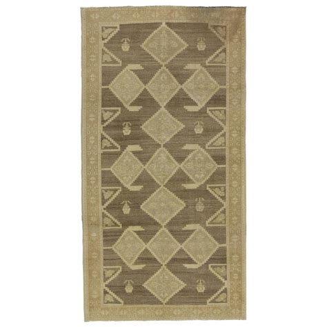 earth tone rugs vintage turkish oushak gallery rug with earth tones and modern tribal style for sale at 1stdibs