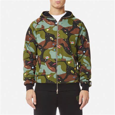 Jaket Zipper Hoodie Sweater Billioners Boys Club billionaire boys club s all space camo zip through hoody black mens clothing thehut