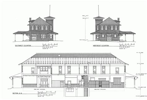 model house plans free model plans for house free plans of a t s f hardeman pass railroad depot free model
