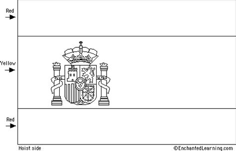Flag Of Spain Quiz Printout Enchantedlearning Com Spain Flag Template
