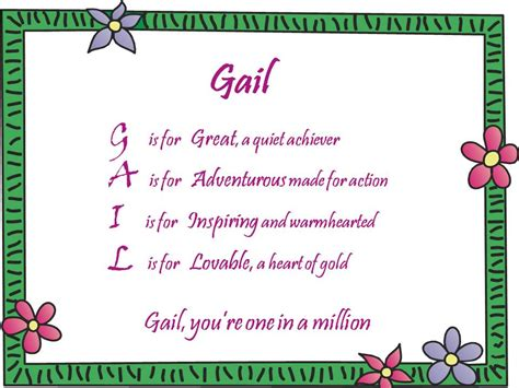 How Do You Mention A Poem In An Essay by Acrostic Name Poems For Gail