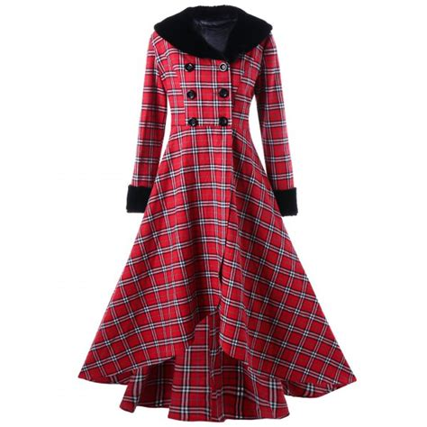 plaid swing coat wholesale plus size double breasted plaid swing coat 5xl