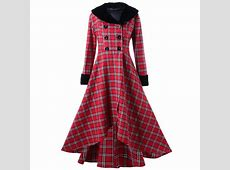 Wholesale Plus Size Double Breasted Plaid Swing Coat 5xl ... Rose Wholesale Apparel Cheap Online