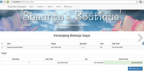tutorial e commerce aplikasi toko online penjualan spare source code aplikasi butik toko online dengan php mysqli
