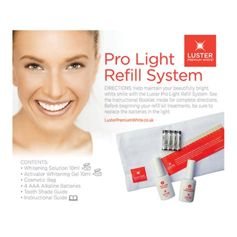 Luster Pro Light Teeth Whitening System Reviews by Luster Pro Light Refill System Be Beautiful