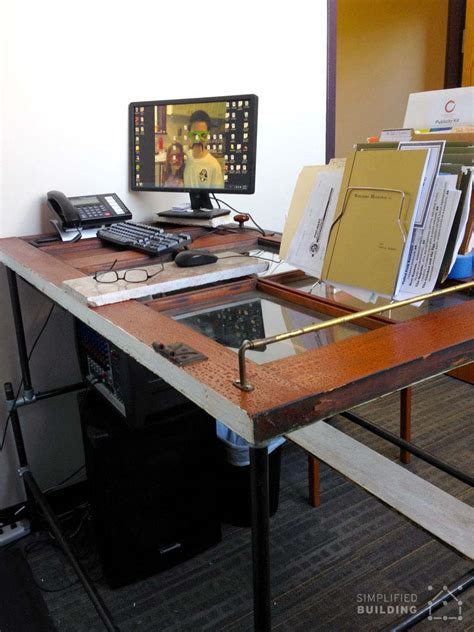 Pipe Standing Desk With Door Table Top Rustic Or Diy Door Desk