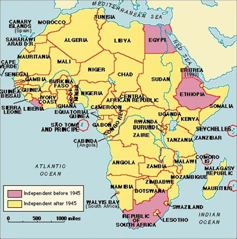 africa map 1990 the quot new quot africa