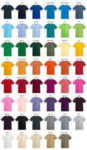 gildan t shirt color chart 36 custom screen printed t shirts one color ink gildan 100