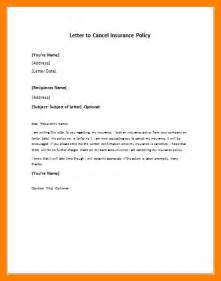 Policy Cover Letter by 9 Policy Cancellation Letter Homed