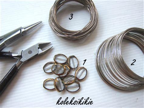 membuat gelang spiral membuat gelang lilit dr kawat alumunium koleksikikie