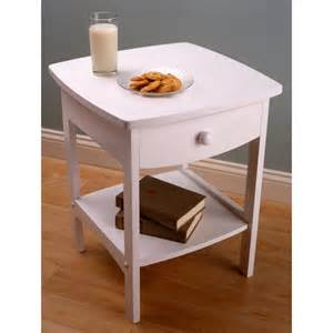 Curved Nightstand End Table Winsome White Curved End Table Stand 150975 Living Room At Sportsman S Guide
