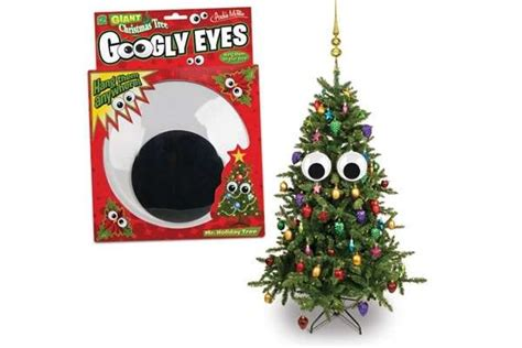 personified tree decor christmas tree googly eyes
