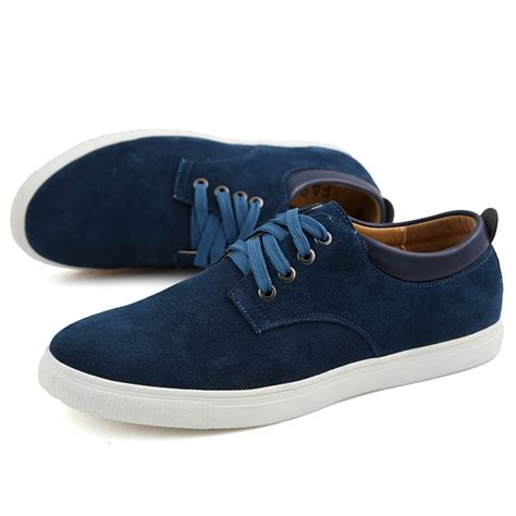 comfortable european shoes men s suede leather comfortable casual shoes big size male