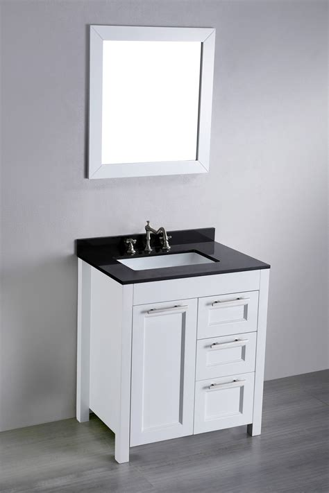 30 White Bathroom Vanity by 30 Inch White Contemporary Single Bathroom Vanity Black