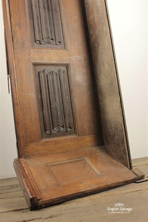 decorative linen fold carved wood panel
