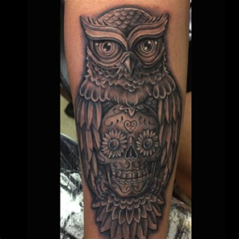 skull leg tattoo designs owl skull tattoodenenasvalencia
