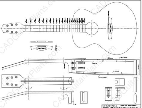 electric acoustic guitar plans pdf medium jumbo acoustic guitar plan cad guitar plans