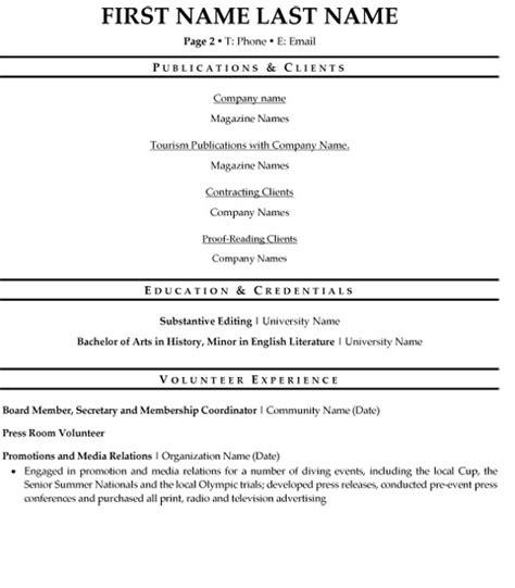 Managing Editor Sle Resume by Managing Editor Resume Sle Template