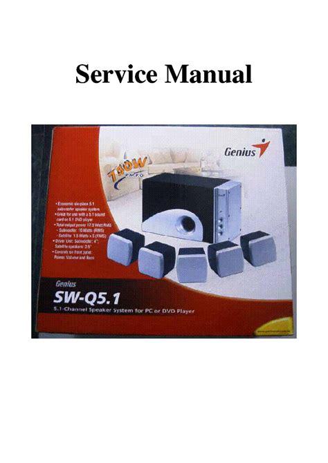 Genius Speaker 2 1 Sw G2 1 3000 genius sw g2 1 3000 speakers ver1 0 service manual free