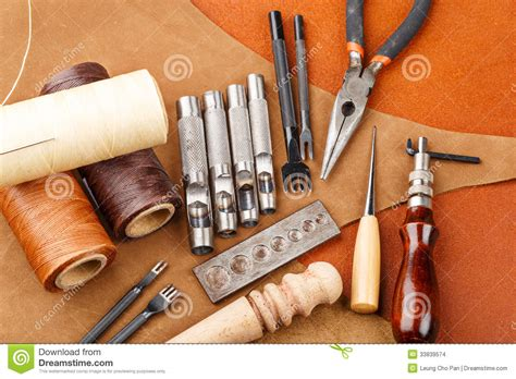 handmade leather craft tool stock images image 33839574