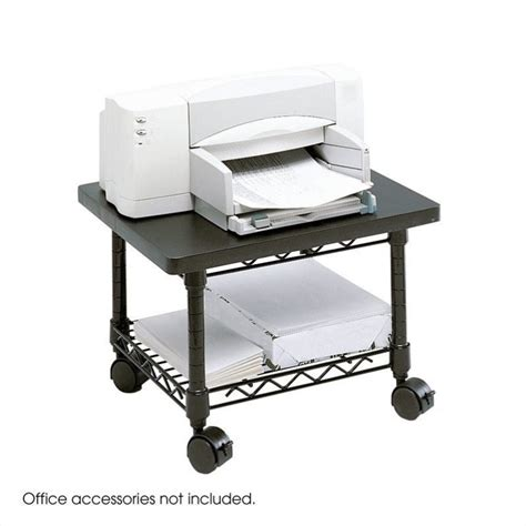 Desk With Printer Shelf by Desk Printer Fax Stand In Black 5206bl