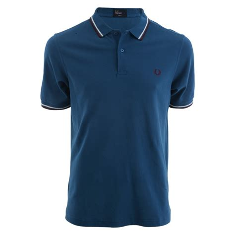 Polo T Shirt Men S Fred Perry M3600 Slim Fit Polo T Shirt In Blue