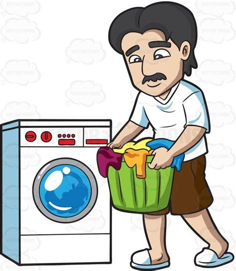 laundry clip a carrying clothes for laundry clipart