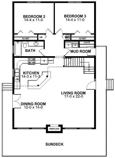 frame style house plan    bed  bath