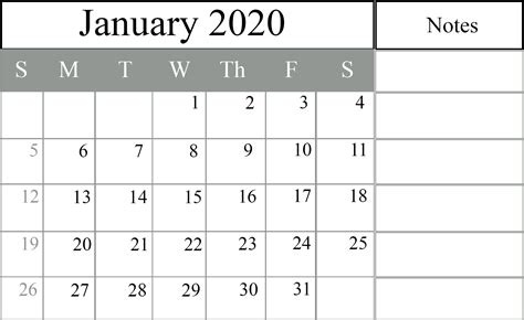 january  printable calendar   excel word printable april calendar template