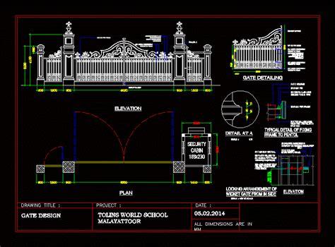 ms gate design dwg block  autocad designs cad