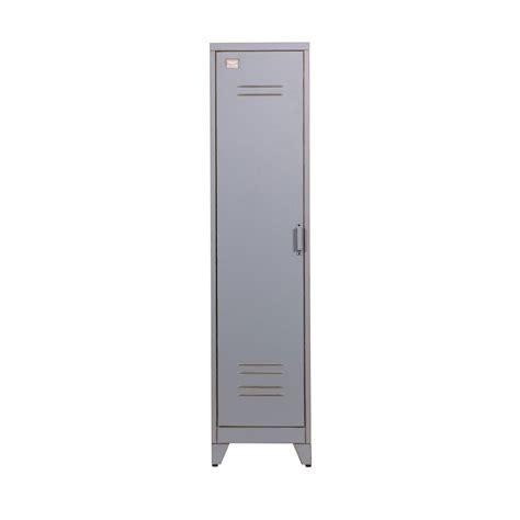 armoire metal armoire 1 porte vintage gris maxim par drawer fr