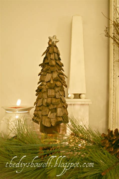 5 diy wooden tabletop christmas trees shelterness