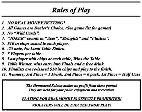 Printable Poker Instructions For Beginners | how to play various poker games