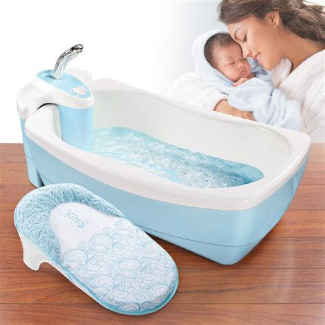 baby bath with shower infant lil luxuries water whirlpool spa shower tub baby gift blue bath pool ebay