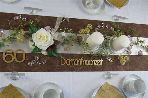 Diamantene Hochzeit by Tischdekoration Diamantene Hochzeit Die Tischdekoration