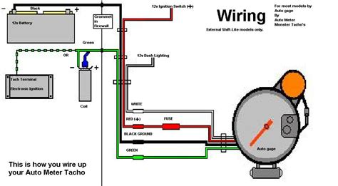 wiring diagram autometer tach wiring diagram images