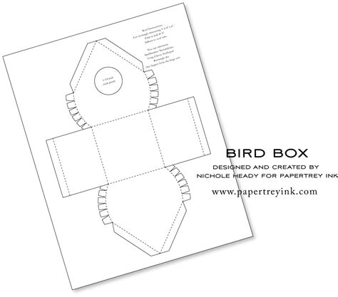 birdhouse templates cards bird house template crafts birds